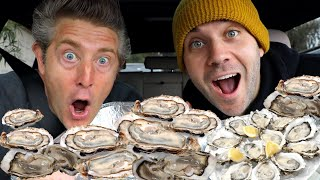 100 OYSTER EATING CHALLENGE COMPETITION! WITH JASON NASH!!