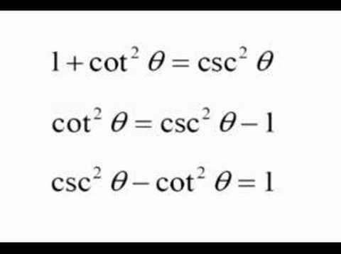 Trigonometric Formulas Youtube