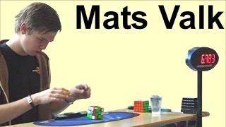 "Mats Valk's amazing sub 8 sec ""dropped"" solve close up in 2014 Dutch Open Rubik's speedcubing comp"