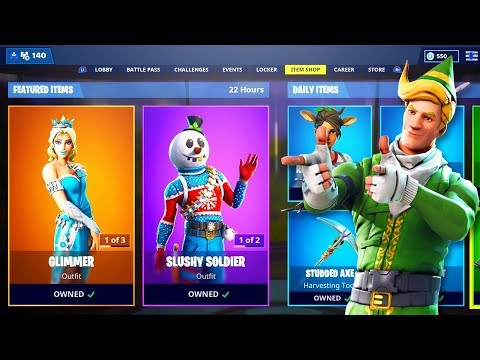 New CHRISTMAS ITEM SHOP SKINS in Fortnite!