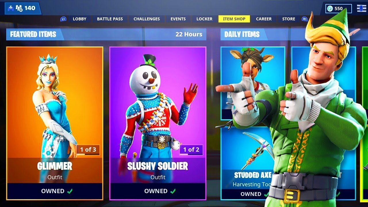New CHRISTMAS ITEM SHOP SKINS in Fortnite! - YouTube