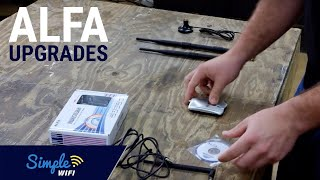 Alfa 1000mW Available Antenna Upgrades Explained - 7dBi, 9dBi & Mount