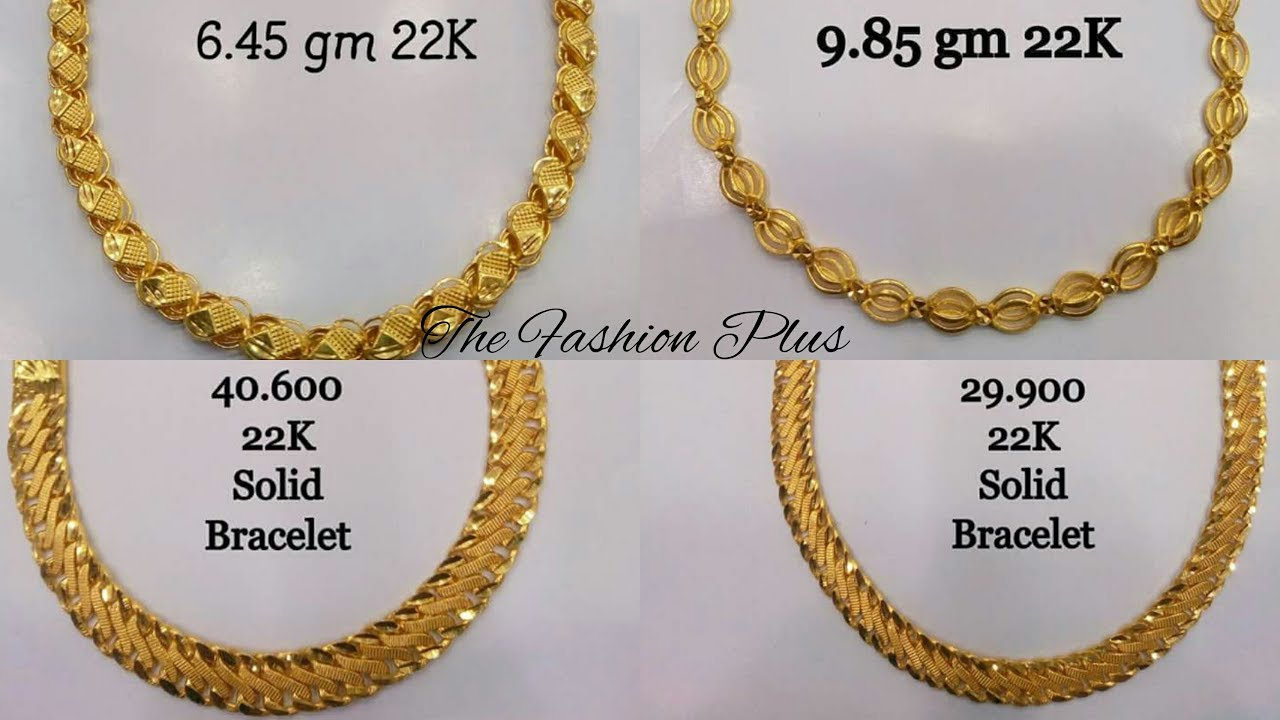 Gold Bracelets Designs With Weight