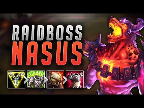 RAIDBOSS NASUS BUILD! ONE SHOT ENEMY TEAM WITH THIS BUILD! NASUS TOP SEASON 7! (LoL Best Moments)