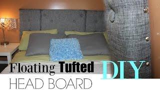 DIY |Tufted Grey HeadBoard || Floating HeadBoard |GoldenPoise