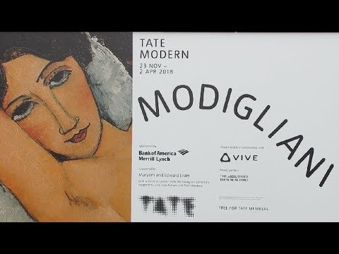 Exhibition Review : Modigliani at Tate Modern – 23rd November 2017 to 2nd April 2018