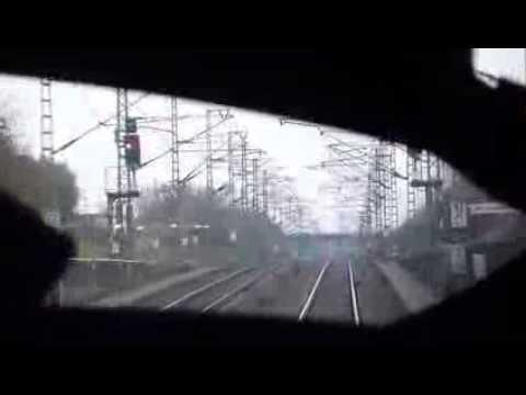 ICE Verlsst Bahnhof Mannheim Blick Aus Dem Fhrerstand