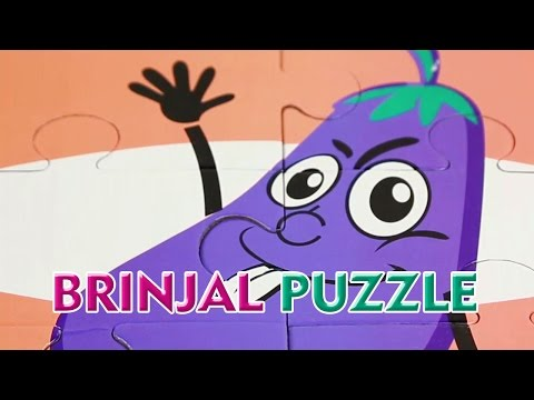 Brinjal Picture Puzzle   Puzzle Games For Kids   Brinjal Jigsaw Puzzles For Children   Compilation