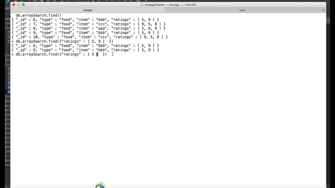 MongoDb Tutorial 15 : How to find or search inside array in mongoDb