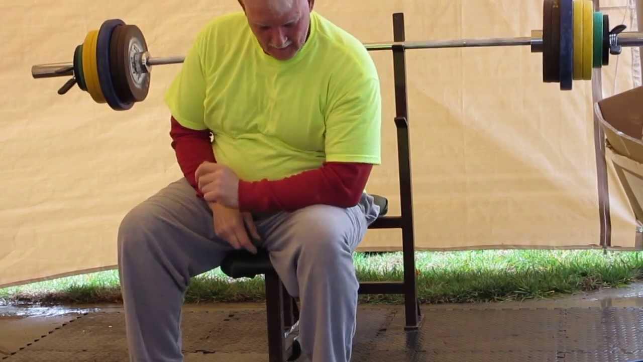 Bench Press 240x1 Tom Jones 65 Year Old Masters Powerlifter