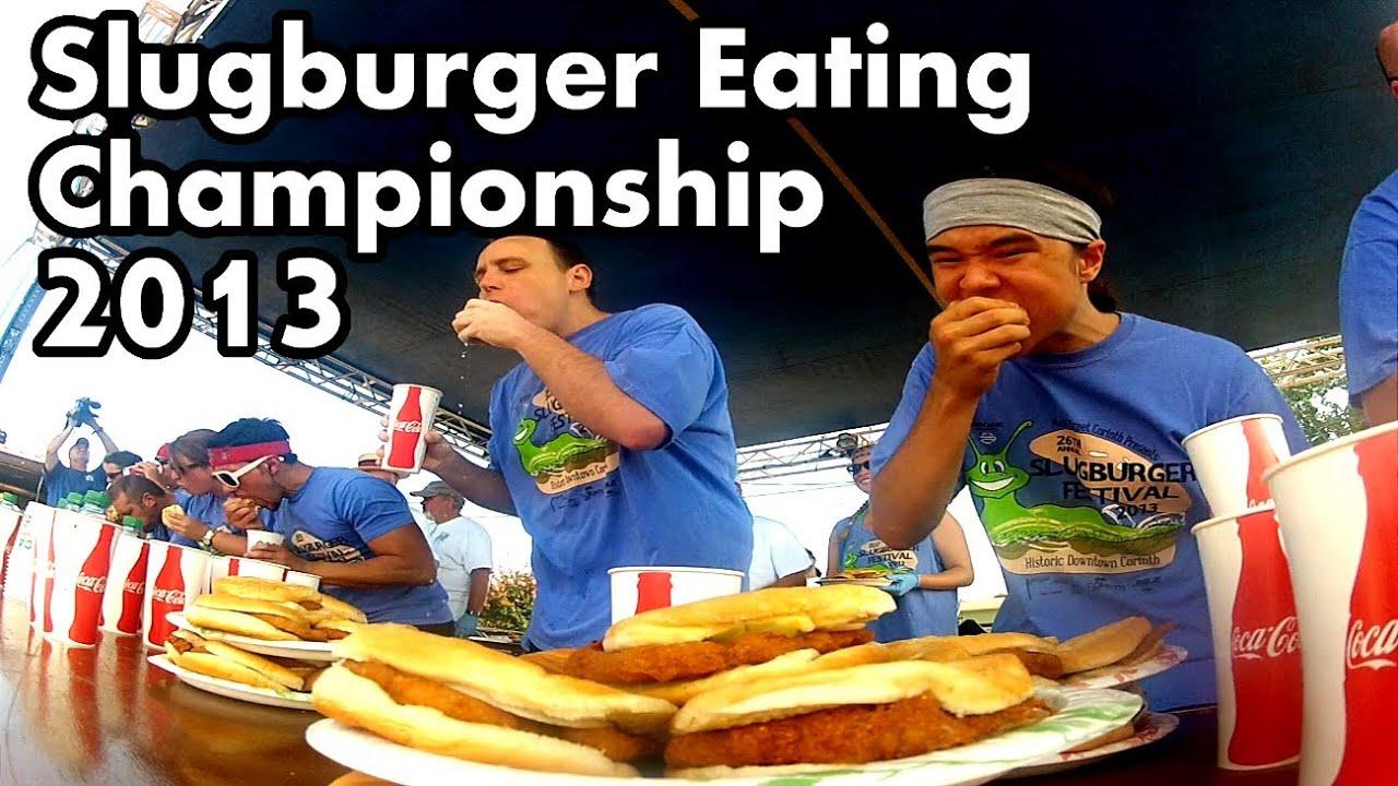 World Slugburger Eating Championship 2013 - YouTube