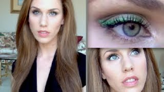 Gorgeous Green Eyes For St Patrick's Day! Easy Eye Makeup Tutorial