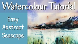 Inspiring Atmospheric Abstract Watercolour Painting With Palette Knife