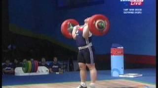 Gewichtheben - Mi-Ran Jang stößt Weltrekord bei der WM 2009.mpg