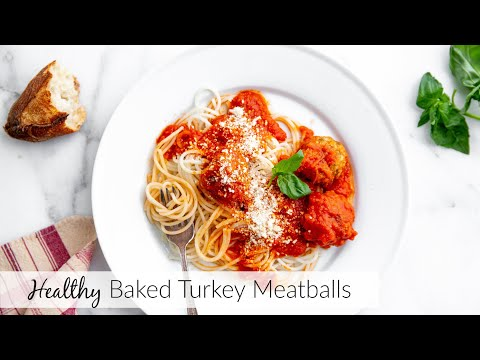 How to Make Baked Turkey Meatballs (the easiest meatballs!)