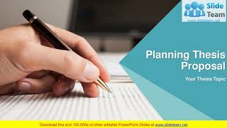 Planning Thesis Proposal PowerPoint Presentation Slides - YouTube