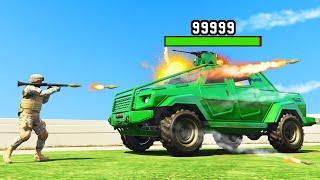 1000 ROCKETS vs. 1 ARMORED CAR! (GTA 5 Funny Moments)
