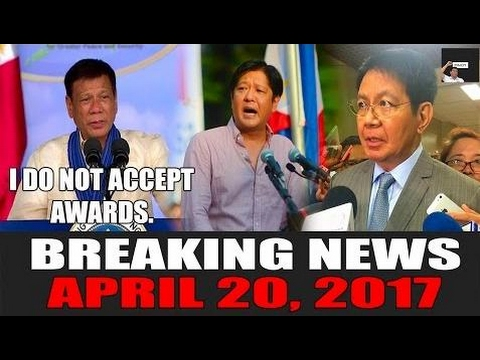 BREAKING NEWS TODAY! APRIL 20, 2017 | Duterte UP Awards | Marcos VP Recount | Se - Philippines News