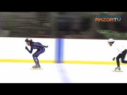 High speed risk, but more fun (Ice-skating babes Pt 3)