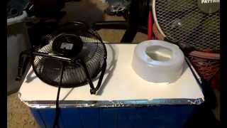 My Homemade Ice Chest Air Conditioner