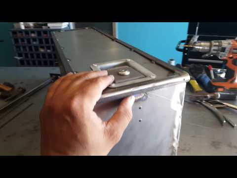 welding metal utility box for the first time.