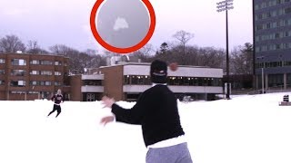 QB THROWING COMPETITION VS COLLEGE QBS IN SNOW!