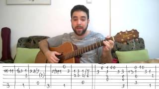 Fingerstyle Tutorial  Hello L  Richie   Guitar Lesson w  TAB