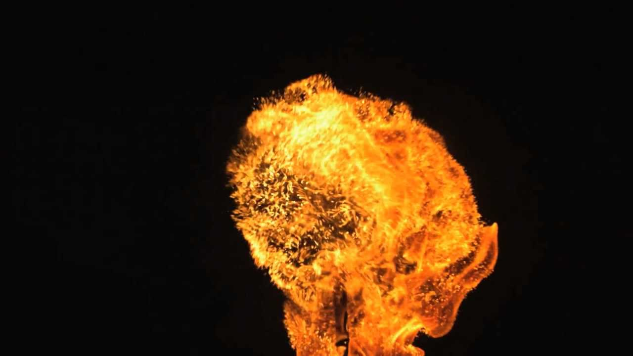 fire ball in slow motion hd with slow mo video views of flames burning out from core of fireball. Black Bedroom Furniture Sets. Home Design Ideas