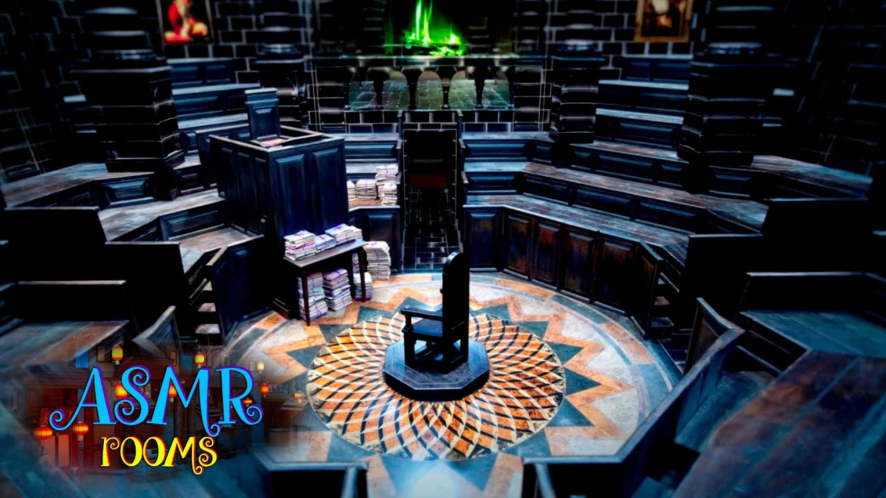 Harry Potter Inspired ASMR - Ministry of Magic Courtroom - Magical  Workplace Ambience and Animation
