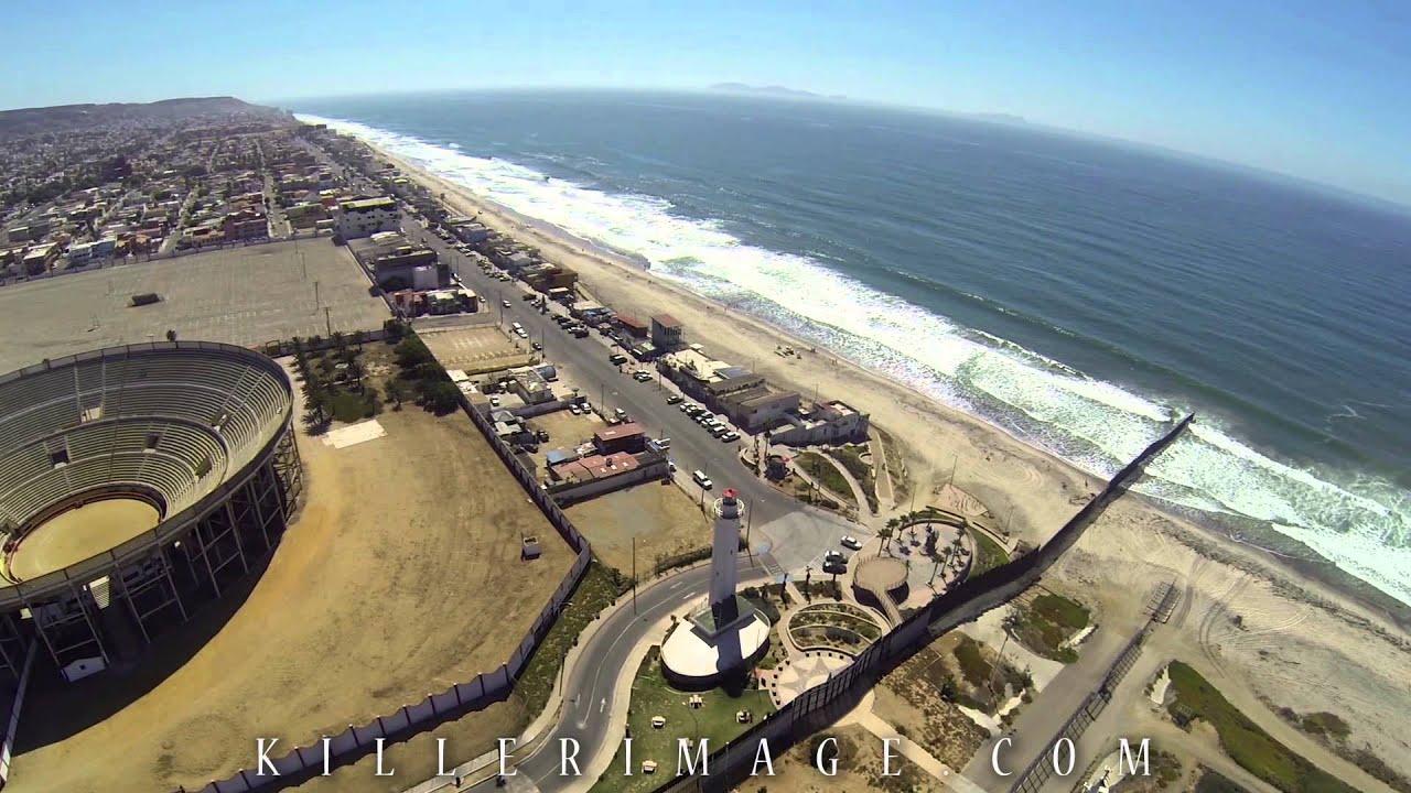 USA Mexico Border Aerial Video Tijuana Sept YouTube - Usa and mexico