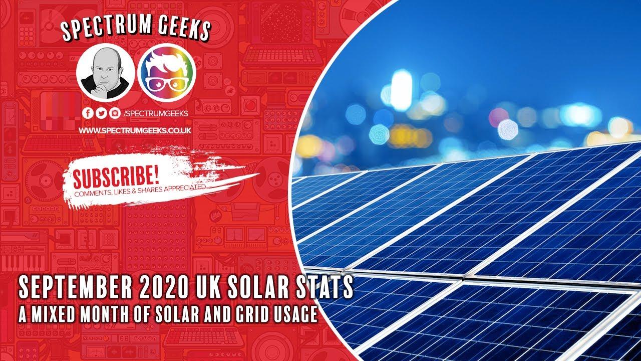 September 2020 Solar Stats in the UK