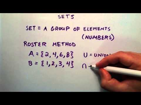 An Introduction to Sets Unions and Intersections , Intermediate Algebra , Lesson 26