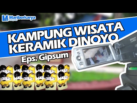 Kampung Wisata Keramik Dinoyo Episode Gipsum ft Bu Yanti. Souvenir dari Gipsum yang Menarik. #gipsum