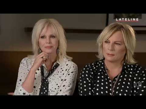Joanna Lumley & Jennifer Saunders Interview - Lateline -  Absolutely Fabulous Movie 1st August 2016