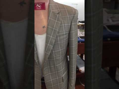 Matching checks by a Master tailor Adriano Carbone Australia Melbourne