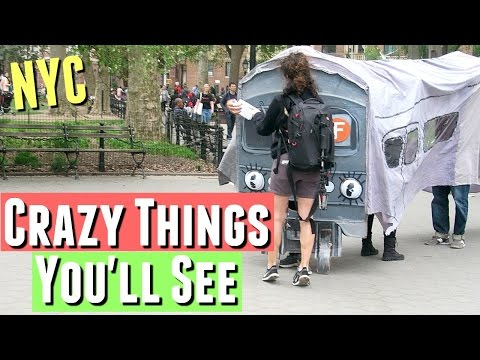 Only in New York City: THE CRAZY THINGS YOU'LL SEE IN NYC