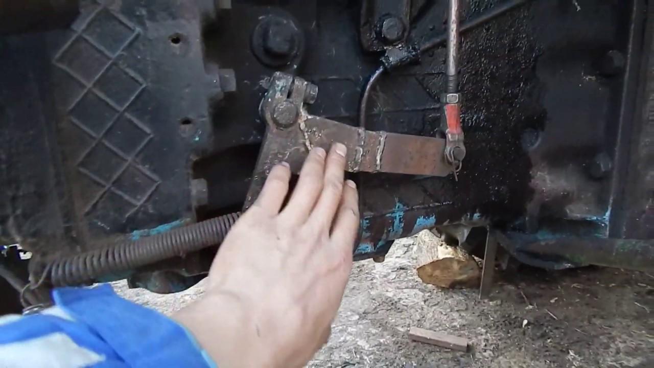 Переделка педаль сцепления МТЗ, тросик газа на МТЗ