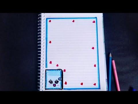 تزين دفتر على شكل (دفتر) سهل و جميل 📚😍❤️