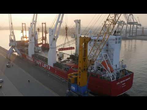 HHL Rio de Janeiro – Transportation of five Gottwald mobile harbour cranes