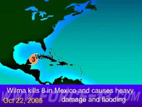 2005 Atlantic Hurricane Season Animation Version 3