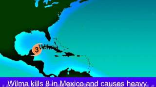 2005 Atlantic Hurricane Season Animation (Version 3)