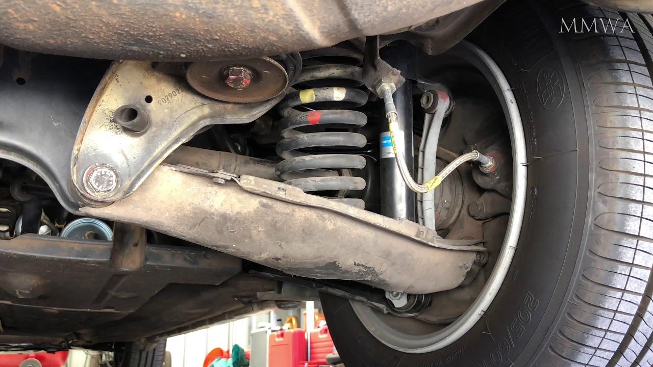 Mercedes W124 - Rear end creaking. What is it? - YouTube