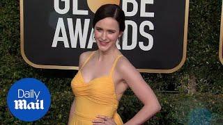 Rachel Brosnahan marvelous in yellow at the 2019 Golden Globes