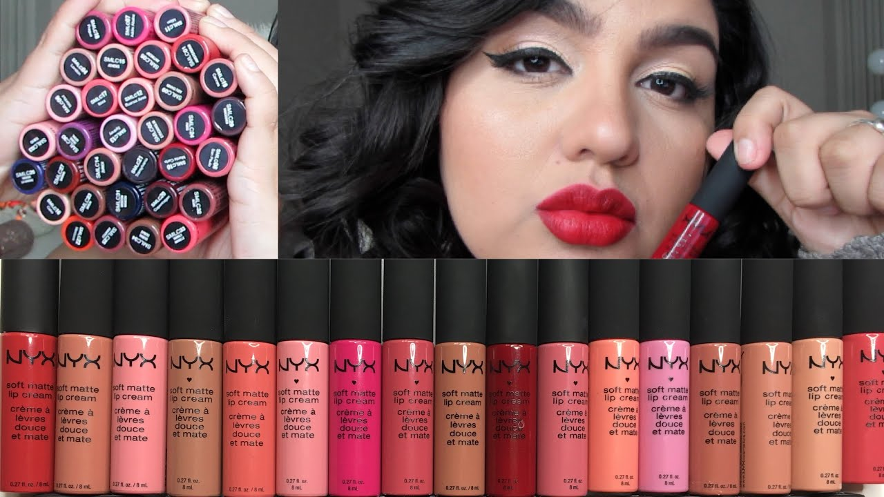 Nyx Soft Matte Lip Cream Favorite Color All Variant Swatches Dollstation You
