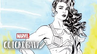 America Chavez comes to life on Marvel Quickdraw thumbnail