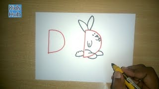 Draw with Alphabet D | Fun with Alphabets | Drawing for kids