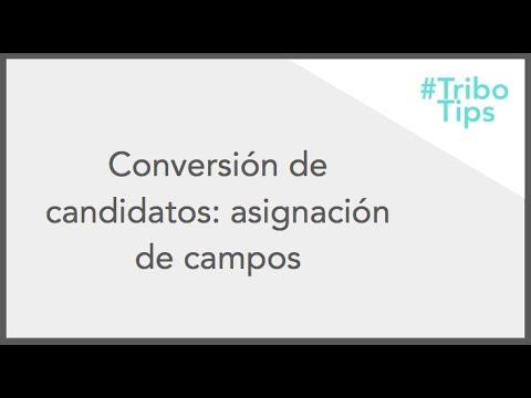 Conversión de candidatos: asignación de campos