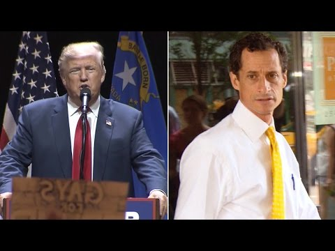 Donald Trump Thanks Anthony Weiner at Campaign Rally