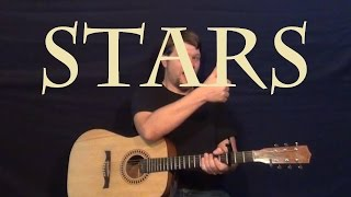 Stars (Grace Potter) Guitar Lesson Easy Strum Chords How to Play Solo