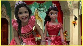 Disney PRINCESS Elena Doll and dresses up as a Princesses